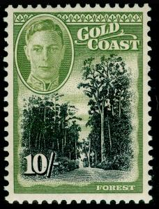 GOLD COAST SG146, 10s black & sage-green, UNMOUNTED MINT. Cat £22.
