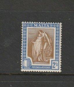 Malta 1922/6 GV 2/- MM SG 135