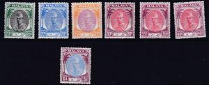 KELANTAN 1951     S G  72 - 79     VARIOUS VALUES TO $1  MNH   $1 MH