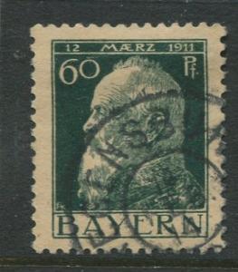 Bavaria -Scott 84A - Prince Regent Luitpold -1911 - Used -Single 60pf Stamp