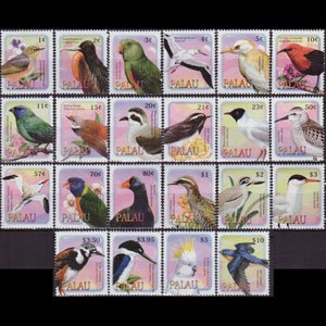 PALAU 2002 - Scott# 648-69 Birds Set of 22 NH