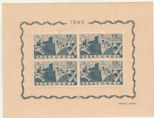 PORTUGAL 1946 CASTLES MINIATURE SHEET MNH **