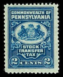 U.S. PA ST. REVS ST4  Mint (ID # 29433)