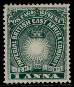 BRITISH EAST AFRICA QV SG5b, 1a deep blue-green, M MINT.