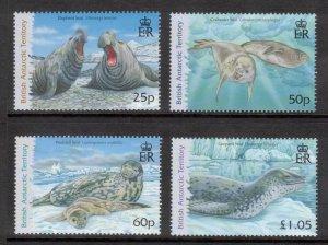 BRITISH ANTARCTIC 2006 Seals; Scott 374-77, SG 448-51; MNH