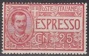 Italy #E1  F-VF Unused  CV $50.00 (S2657)