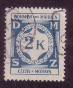 Bohemia & Moravia Sc.# O9 Used