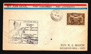 Canada 1929 FFC - Ft Chipewyan to Ft McMurray - Z16689