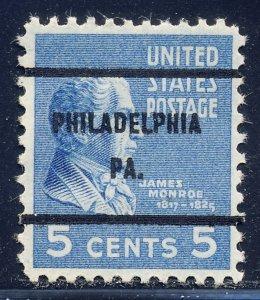 Philadelphia PA, 810-61 Bureau Precancel, 5¢ Monroe