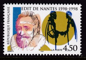 France 1998 Henry IV Edict of Nantes  VF/NH