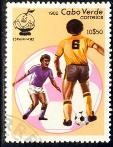 Soccer Players 1982 World Cup, Cape Verde stamp SC#449 used