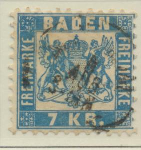 Baden (German State) Stamp Scott #28, Used - Free U.S. Shipping, Free Worldwi...