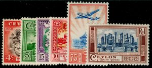CEYLON SG413-418, COMPLETE SET, M MINT. Cat £13.