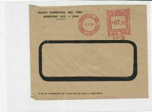 Peru 1966 machine cancel  stamps cover ref 21627