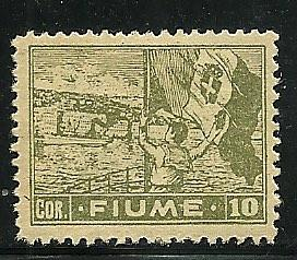 Fiume # 43a, Mint Hinge Remain