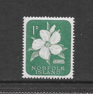 FLOWER - NORFOLK ISLAND #29- HIBISCUS  MNH