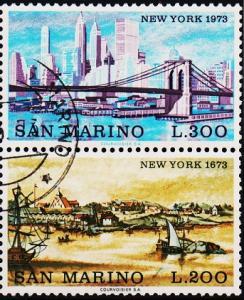 San Marino.1973 Pair. S.G.960/961 Fine Used