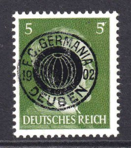 GERMANY 509 F. C. GERMANIA DEUBEN OVERPRINT OG NH U/M F/VF BEAUTIFUL GUM