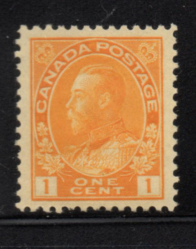 Canada Sc 105 1922 1 c orange yellow GV Admiral stamp mint NH