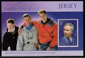 Jersey Sc 1349a 2008 60 yrs Prince Charles stamp sheet NH