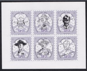 Scouting - Baden-Powell Chapter # 1 50th Anniversary Sheet of 6 Labels