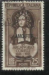TRIESTE A 1953 AMG - FTT ITALIA ITALY OVERPRINTED ARCANGELO CORELLI USATO USED