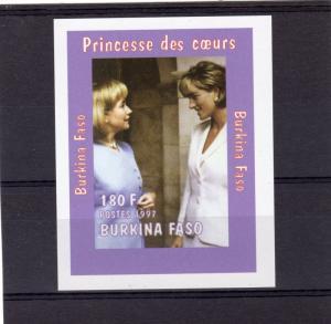 Burkina Faso 1997 Diana/Hillary Clinton SS MHH VF Sc# 1127Aj