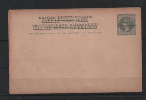 British Bechuanaland on Cape 1 1/2d Postal Stationery WS13206