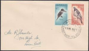 NEW ZEALAND 1960 cover WAITANGI / CHATHAM ISLANDS cds......................87734