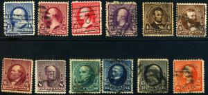 U.S. #219-229 Used Complete Set