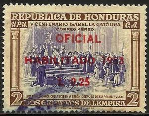 Honduras Air Mail 1953 Scott# C214 Used