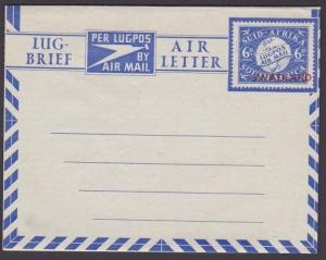 SWAZILAND 6d South Africa airletter overprinted for use in Swaziland.......67596