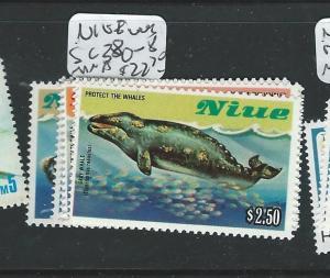 NIUE (P1508B) WHALES SC380-8  MNH