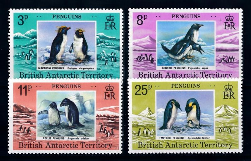 [66395] British Antarctic Territory 1979 Birds Penguins  MLH