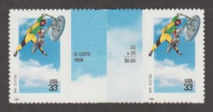 U.S. Scott #3321-3324 Extreme Sports Stamps - Mint NH Vertical Gutter Pair