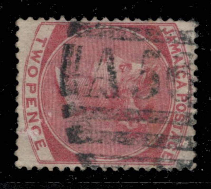 JAMAICA - NUMERAL A56 OF MONEAGUE (type K) ON SG 9 - 2d ROSE Wmk. CROWN CC