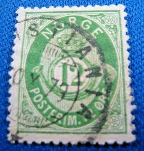 NORWAY 1877  -  SCOTT # 26       USED     (XN7)