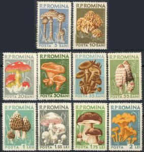 Romania #1225-1234 Mushrooms MNH