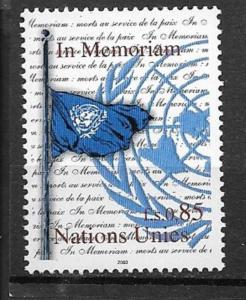 United Nations Geneva 2003 In Memoriam  SC#414 MNH