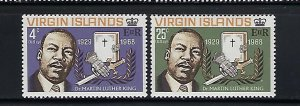 BRITISH VIRGIN IS. SCOTT #192-93 1968 MARTIN LUTHER KING - MINT NEVER HINGED