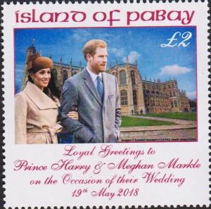 PABAY, British Local - 2018 - Royal Wedding of Harry & Meghan - Perf MNH Stamp