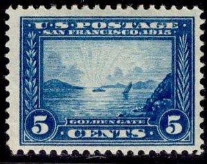US Stamp #399 5c Blue Golden Gate MINT Hinged  SCV $65.00