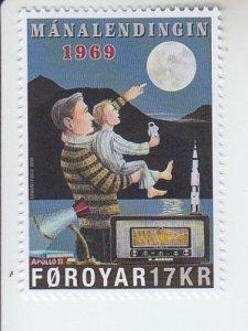 2019 Faroe Islands Moon Landing Apollo 11 (Scott NA) MNH