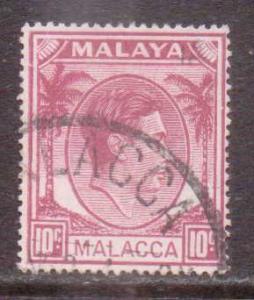 Malaya-Malacca    #9  used  (1949)