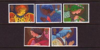 Great Britain Sc 1834-8 1998 Christmas stamps mint NH