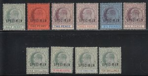 Lagos, SG 44s-53s, MHR Specimen Overprints