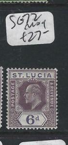 ST LUCIA  (P2705BB)  KE  6D  SG  72  MOG