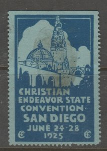 Cinderella revenue fiscal stamp 9-9-72 USA stained but very scarce SD California
