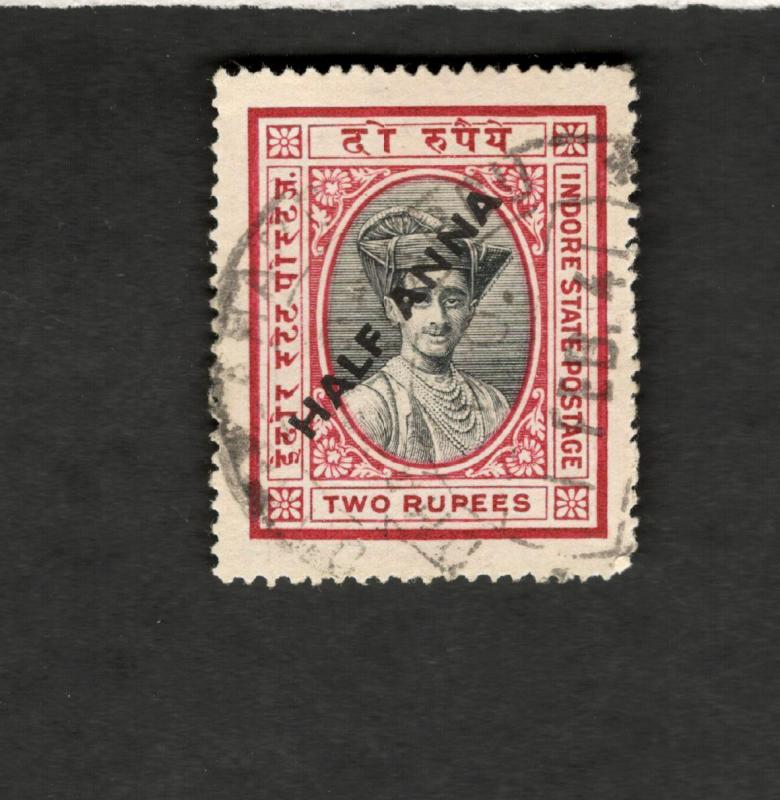 India SCOTT #32 BOB with overprint used stamp