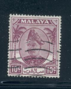 Malaya - Selangor 86  VF  Used